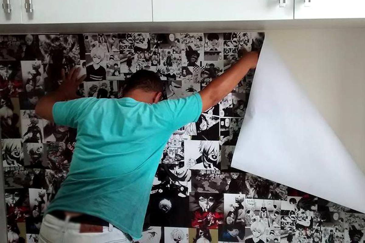3 – Papel de parede adesivo